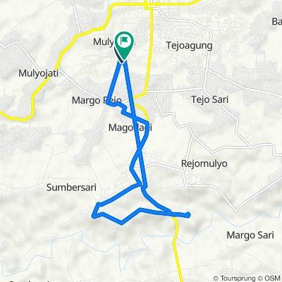 Jalan Karet, Kecamatan Metro Pusat to Gang Ikhlas 1, Kecamatan Metro Pusat