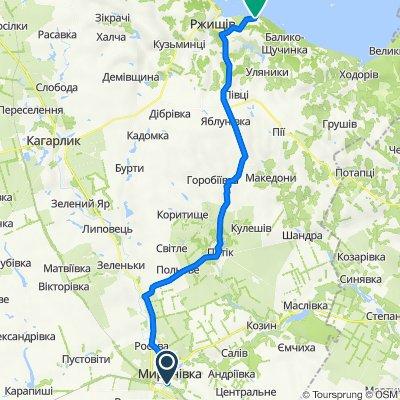 Vulytsya Peremohy 14, Myronivka to Unnamed Road, Rzhyschiv