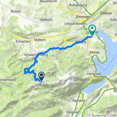 Swisstopo Route Miitaggüpfi