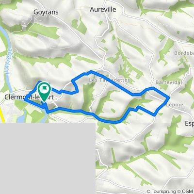De Chemin du Fort 405, Clermont-le-Fort à Chemin du Fort 405, Clermont-le-Fort