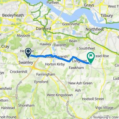 39 Hawthorn Park, Swanley to 46 Fairlight Cross, Longfield