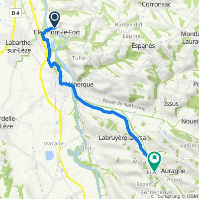 De 2 Chemin des Fraysses, Clermont-le-Fort à Turelle, Auragne