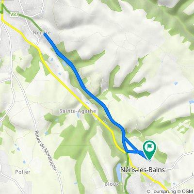 De 8 Allée des Tourterelles, Néris-les-Bains à 8 Allée des Tourterelles, Néris-les-Bains