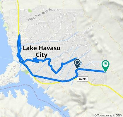 Hassayampa Drive 3340, Lake Havasu City to Mercury Drive 4196, Lake Havasu City