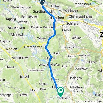 Industriestrasse 173, Spreitenbach nach Mühlestrasse 2, Obfelden