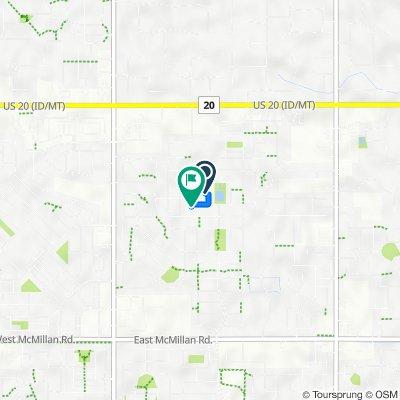 5805 N Senita Hills Ave, Meridian to 5703 N Red Hills Ave, Meridian