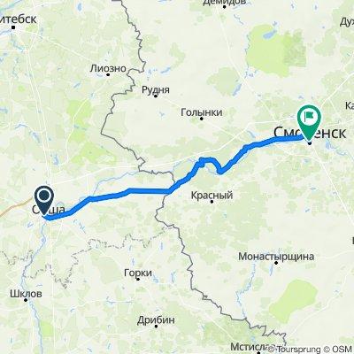 От Пограничная улица, Орша до улица Октябрьской Революции, Смоленск