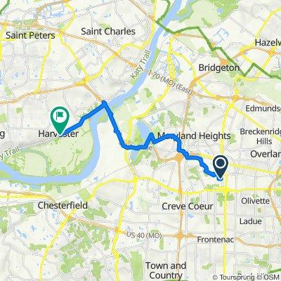 150 Forest Brook Ln, Saint Louis to Katy Trail, Saint Charles