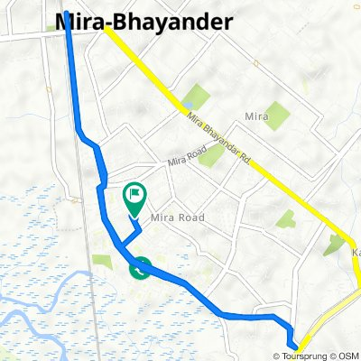 C-29, Shrimad Buddhisagar Suriswarji Maharaj Marg, Sector 3, Mira Bhayandar to B-50, Shree Nakoda Bhairav Marg, Sector 3, Mira Bhayandar