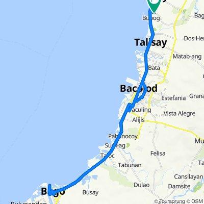 Buenavista Subd, Silay City to Bantayan Park, Bago City