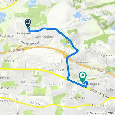 91 Collessie Dr, Glasgow to 5 Springhill Farm Way, Glasgow