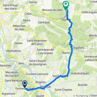 De Chemin du Moulin À Vent 2, Domessargues à La Rouvière, Brouzet-lès-Alès