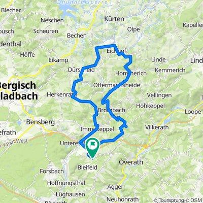 40km Untereschbach - Kürten Runde