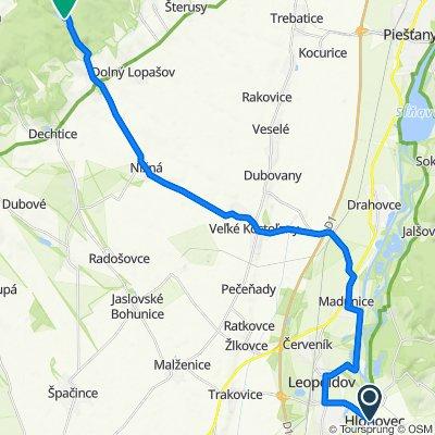 Hlohovec - Leopoldov - Madunice - Veľké Kostoľany - Nižná - Chtelnica (v.n.)