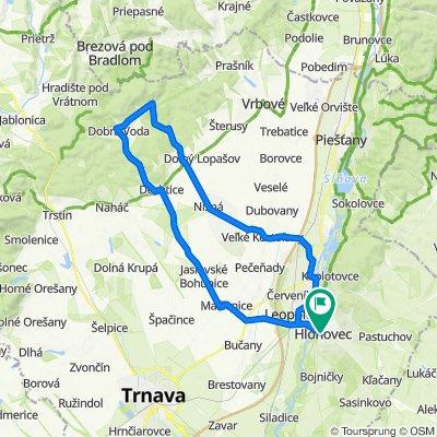 Hlohovec - Madunice - V.Kostoľany - Chtelnica (v.n.) - Dobrá Voda - Jasl.Bohunice