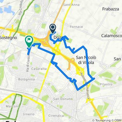 Da Via Andrea da Formigine 83, Bologna a Via di Corticella 158, Bologna