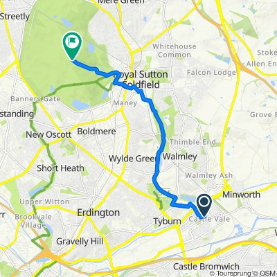 Route from 431–447 Tangmere Dr, Tyburn, Birmingham