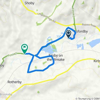 21 Leah Way, Melton Mowbray to Frisby Road, Hoby, Melton Mowbray