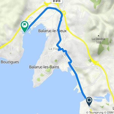 Itinéraire à partir de D2, Frontignan