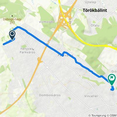 Fonó utca 2, Érd to Alsóvölgyi út 46, Érd