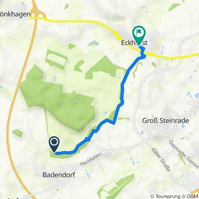 Route nach Eckhorster Dorfstraße 20A, Stockelsdorf