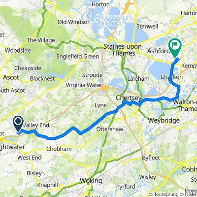 2 Windmill Field, Windlesham to 285 Feltham Hill Road, Ashford