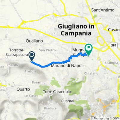 Da Via Umberto Migliaccio, Marano di Napoli a Via Francesco Crispi 44, Mugnano di Napoli