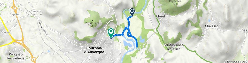 Itinéraire vers 2 Allée Lavoisier, Cournon-d'Auvergne