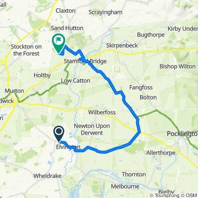 Chapters, York Road, York to Northgate Lane, Gate Helmsley, York