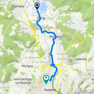 De Route d'Appoigny 1, Gurgy à Pôle D'échanges, Auxerre