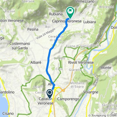 Da Via Pozzo dell'Amore 11–19, Cavaion Veronese a Via Cappuccini 4, Caprino Veronese