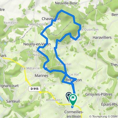 Itinéraire vers Rue de Bréançon, Cormeilles-en-Vexin