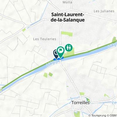 De 6 Place Jacquard, Saint-Laurent-de-la-Salanque à Avenue du Maréchal de Lattre de Tassigny, Saint-Laurent-de-la-Salanque