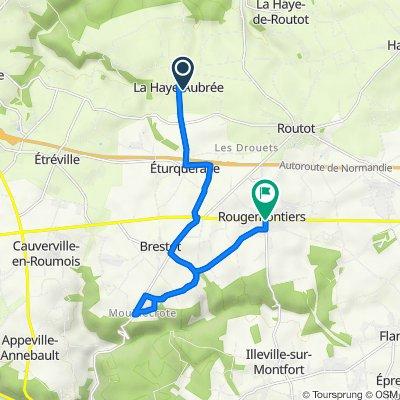 De 56 Rue de la Mare Vidée, La Haye-Aubrée à 2 Route de Rouen, Rougemontiers