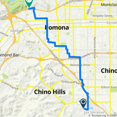 15225 Rolling Ridge Dr, Chino Hills to 1810 Gillette Rd, Pomona