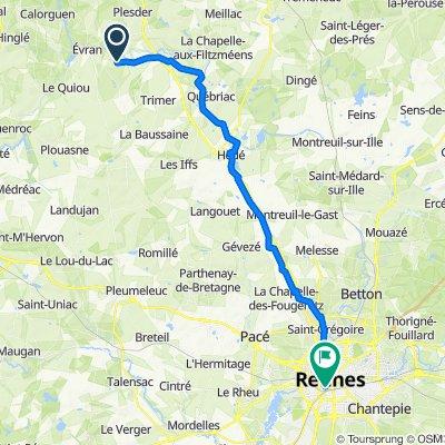 De Monchoix, Trévérien à Boulevard de la Tour d'Auvergne, Rennes