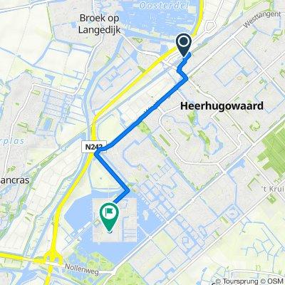 Route to Keerkring 25, Heerhugowaard