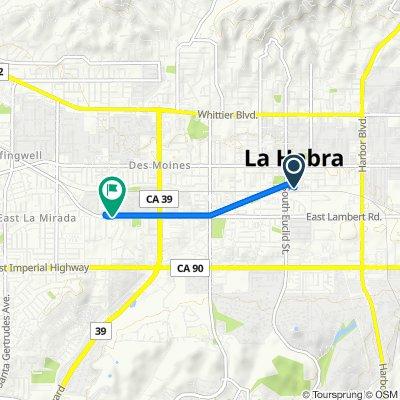 396 S Murcia Ct, La Habra to 2558–2598 W Lambert Rd, La Habra