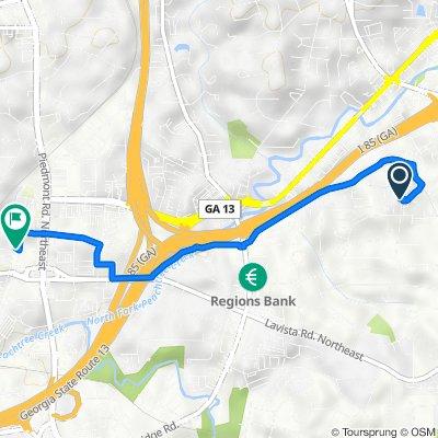 15000–15398 Briarhill Ln NE, Atlanta to Main St NE, Atlanta