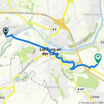 Wehlingstraße 6, Limburg an der Lahn nach Londoner Straße 5, Limburg an der Lahn