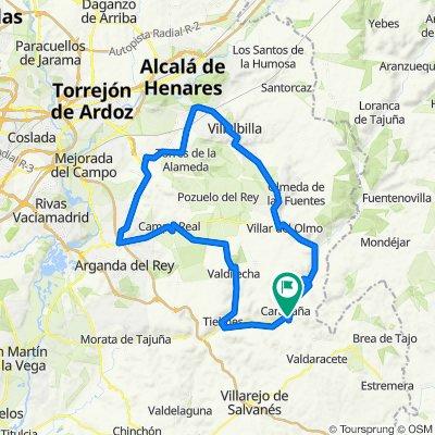 De Calle del Real 57D, Carabaña a Diseminado Camino de la Jarrada 1, Carabaña