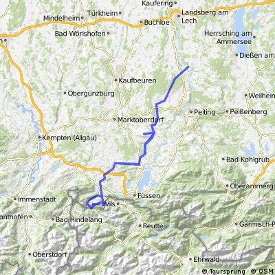 MTB-Tour Epfach-Breitenberg (Pfronten - Epfach