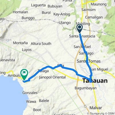 Pan-Philippine Highway, Santo Tomas to Talisay - Tanauan Road