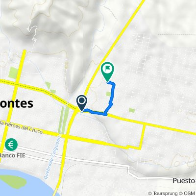 Ruta a Avenida Las Moras, Villa Montes