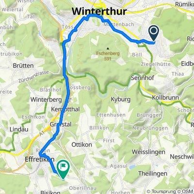 Auf Pünten 23, Winterthur nach Sportplatzstrasse, Illnau-Effretikon