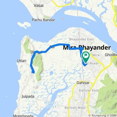 B-50, Shree Nakoda Bhairav Marg, Sector 3, Mira Bhayandar to C-29, Shrimad Buddhisagar Suriswarji Maharaj Marg, Sector 3, Mira Bhayandar