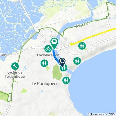 De 9–10 Rue de la Plage, Le Pouliguen à Quai du Commandant L'Herminier, Le Pouliguen