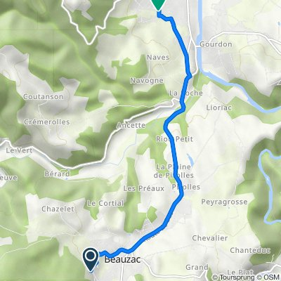 De Chemin de la Dent 13, Beauzac à Rue de la Conche 23, Bas-en-Basset