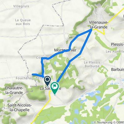 De 2 Rue de la Chapelle Saint-Hubert, La Saulsotte à 15 Rue Putte Musse, La Saulsotte