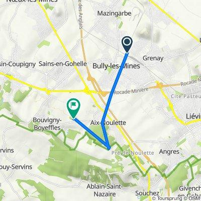 Itinéraire à partir de 77 Rue Voltaire, Bully-les-Mines